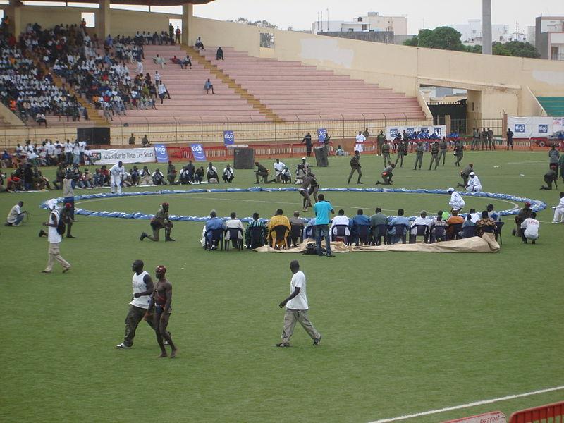 Estádio preparado para o Laamb