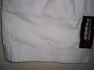 Detalhes da barra da calça
