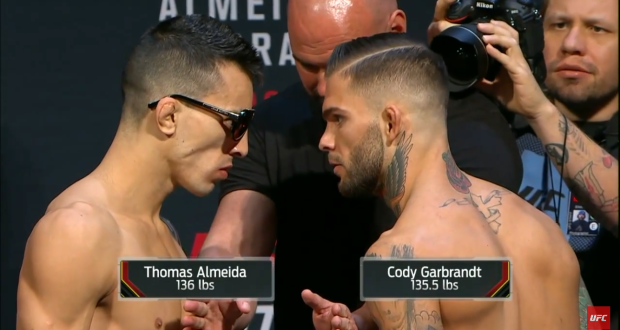 Vídeo: Assista a pesagem do UFC Fight Night 88 – Almeida vs Garbrandt