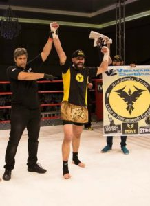 Marcos Lolata, campeão do GP de Kickboxing