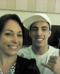 Eu tietando Thominhas Almeida, lutador do UFC