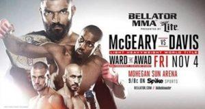 Liam McGeary defende cinturão dos meio-pesados contra Phil Davis no Bellator 163